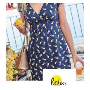 Boden Scattered Lemons Dress Size 14